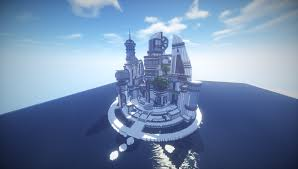 futuristic city minecraft