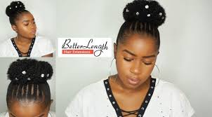 small afro puff buns hair pieces beginner friendly braid and bun using clip ins on short natural hair