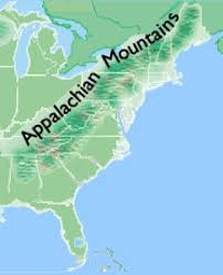 appalachian mountains on map the great wagon road