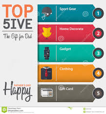 Gift For Dad by Infographic Of Top Five The Gift For Dad For Fathers Day In Flat