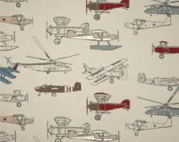 Airplane Shower Curtain Airplane Curtain Etsy