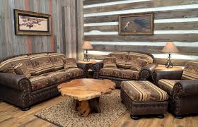 Southwestern Living Room Furniture Living Room Calavia Collection Rustic Southwestern Leather