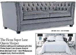 mitchell gold and bob williams sleeper sofa pressreader los angeles times 2015 12 05 stylish sleeper sofas