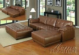 microfiber sectional with ottoman claire leather reversible sectional and ottoman sectionals dark