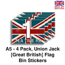 British Flag With Red A5 4 X Pack Rustic Union Jack Design Flag Of Great Britain