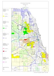 Green Line Chicago Map by Chicago 1990 Census Maps