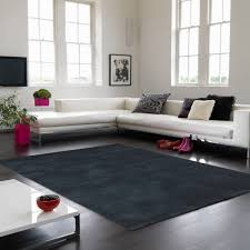 Luxury Rug Buy Online Aran Midnight Plain Wool Luxury Rug Therugshopuk