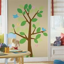 Brown Tree Wall Decal Nursery Cherry Tree Wall Decal Sticker Brown Vinyl Wallpaper Mural