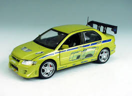 fast and furious evo ertl 1 18 2002 mitsubishi evo 7 the fast and the furious diecast