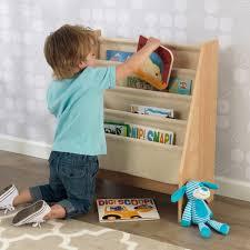 kidkraft sling bookshelf natural toys