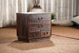 Living Room Wood File Cabinet Japanese Antique Wooden 4 Drawer Cabinet Paulownia Wood Asian