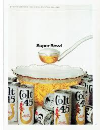 1968 advertisement colt 45 malt liquor beer super bowl party