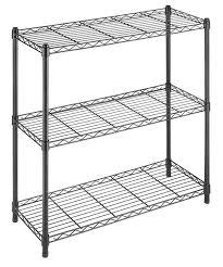 Wire Storage Unit Amazon Com Whitmor Supreme 3 Tier Shelving Black Home U0026 Kitchen