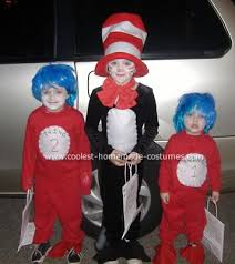 Dr Seuss Characters Halloween Costumes 80 Cat Hat Costume Ideas Images Costume