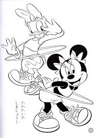 photo walt disney coloring pages daisy duck u0026 minnie mouse