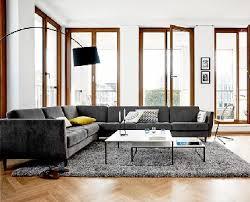 grand canap d angle en tissu grand canapé angle dans salon design boconcept