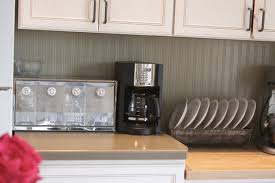 wallpaper for kitchen backsplash kitchen backsplash using beadboard wallpaper transform your home