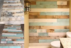 diy bathroom makeover with a gorgeous reclaimed wood wall frugal
