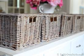 how to create an aged driftwood finish on baskets in my own style