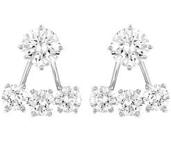 pierced earring attract pierced earring jackets white rhodium plating jewelry