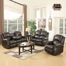 Recliner Leather Sofa Set Gold Thread 3 2 1 Sofa Set Loveseat Recliner Leather Living