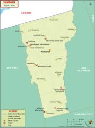 Jetblue Airports Map Airports In Vermont Vermont Airports Map