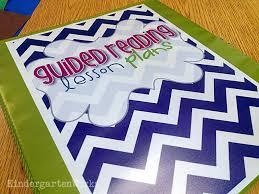 guided reading binder guided setup kindergartenworks