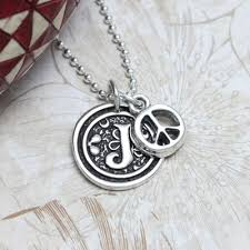 wax seal jewelry wax seal initial necklace in sterling silver initial necklace
