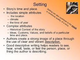 A Place Plot Elements Of A Story Plot Is The Sequence Of Events In A