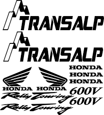 honda transalp vinyls for motorcycles we make all kinds of stickers