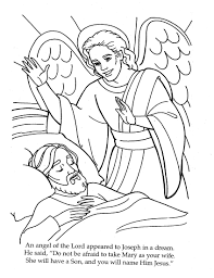Coloring Page Angel Visits Joseph | the angel visits joseph coloring page pinteres
