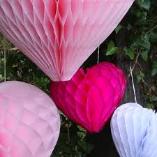 hot pink tissue paper hot pink tissue paper honeycomb hearts in 3 sizes pipii