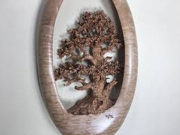 oak tree wood carving wall hanging wood home wall decor best wiz