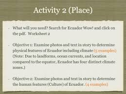 5 themes of geography of ecuador ppt video online download