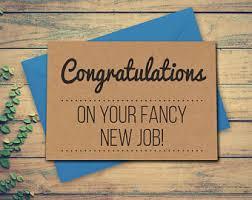 Congrats On New Job Card Funny New Job Congratulations New Job Card New Job