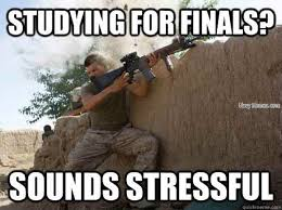 Studying For Finals Meme - studying for finals sounds stressful navy memes clean mandatory fun