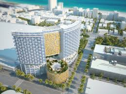 new renderings show miami beach convention center hotel in context