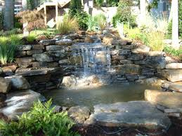 backyard small waterfalls outdoor furniture design and ideas