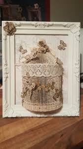 handmade shabby chic birdcage book folding in a picture frame me
