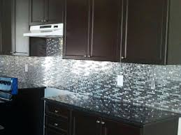 kitchen with glass tile backsplash stainless steel tile backsplash peel and stick kitchen steel and