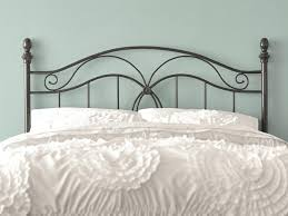 Headboards Bed Frames Bedroom Metal Headboard Bed Frame Attach Footboard Iron And