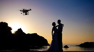 photography and videography in the sky using drones in wedding photography and