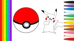pokemon coloring pages pokeball u0026 pikachu dessin pour enfants
