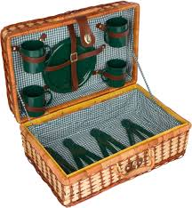 Wicker Rattan Suitcase Style Picnic Basket 18