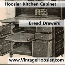 Metal Drawers For Kitchen Cabinets by Most Hoosier Cabinets Had A Bread Drawer This Was A Metal Box
