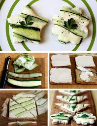 christmas party appetizers ideas sandwiches cookie cutter cucumber