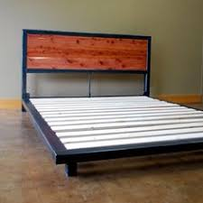 Steel Platform Bed Frame Kraftig Bed Number 4 With Walnut Number Etsy And Welding Projects