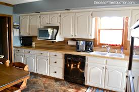kitchen paneling backsplash red oak wood autumn lasalle door painting kitchen cabinets before