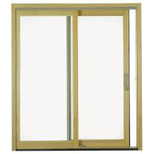 insulated sliding glass doors shop pella 6 u0027 proline sliding patio door wood clad 250 series
