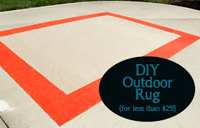 diy outdoor rug for less than 25 less than perfect life of